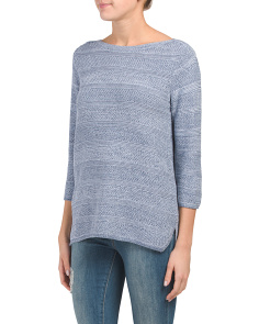 Boat Neck Textured Sweater