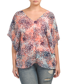 Plus Chiffon Caftan Top