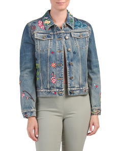 Made In Italy Embroidered Denim Jacket
