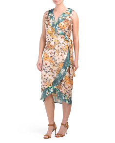 Kade Twin Print Floral Wrap Dress