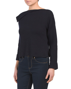 Asymmetrical Cashmere Pullover Sweater