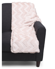 Quilted Faux Fur Throw