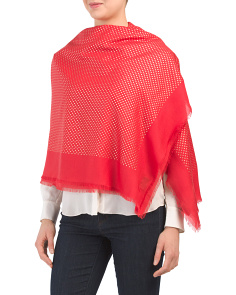 Made In Italy Cashmere Blend Shawl