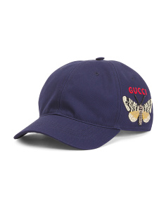 Made In Italy Moth Embroidered Baseball Cap