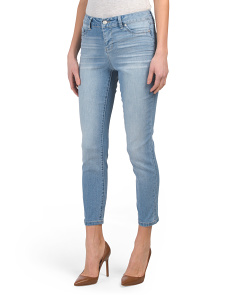 Juniors High Waist Ankle Jeans