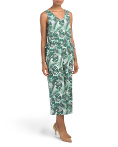 Printed Jumpsuit With Elastic Waist