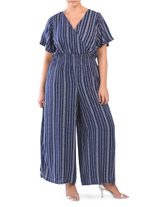Plus Junior Stripe Jumpsuit