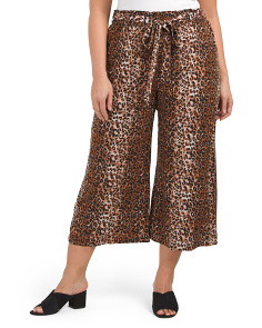 Plus Junior Crop Palazzo Pants