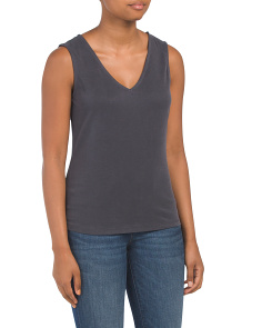 V-neck Bar Back Top