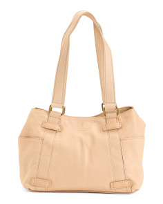 Savannah Leather Shopper With Side Pockets