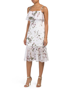 Tiered Printed Midi Dress