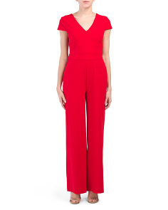 Wide Leg Crepe Jumpsuit