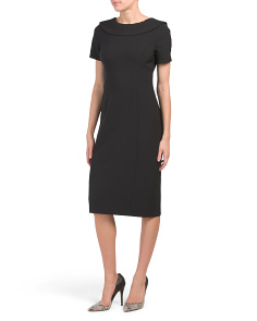 Wide Collar Slim Dress
