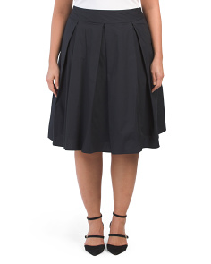 Plus Full Pleated Skirt