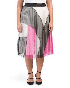 Plus Pleated Maxi Skirt