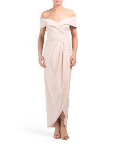 Made In Usa Crepe Midi Dress