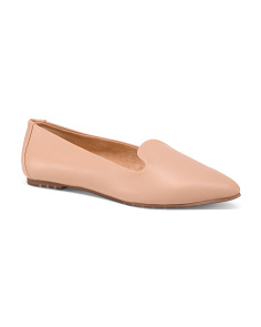 Pointy Toe Leather Ballet Flats