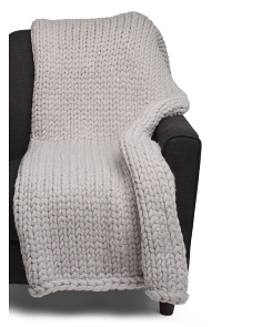 Hand Knit Annabelle Throw