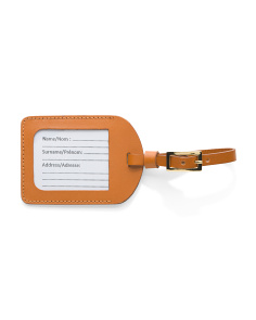 Made In Italy Leather Luggage Tag