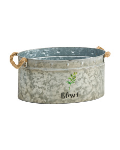Indoor Outdoor Galvanized Blessed Basket