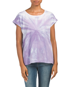 Short Sleeve Cotton Tie Dye Tee