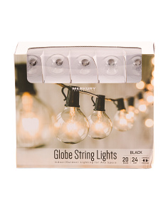 24ft Indoor & Outdoor Globe String Lights