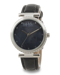 Women's Faux Leather Strap Watch