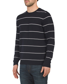 Striped Textured Merino Wool Sweater