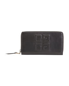 Made In Italy Logo Zip Leather Wallet