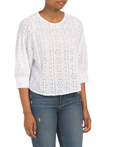 Made In Italy Eyelet Blouse