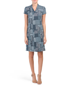 Short Sleeve Ivana Printed Dress
