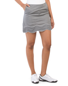 Truth Or Dare Double Scalloped Skort
