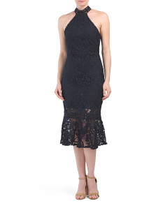 Australian Designed Halter Lace Midi Dress