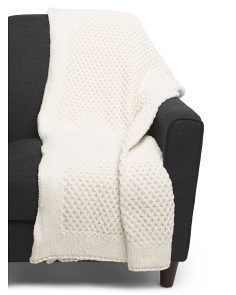 Chunky Honeycomb Throw