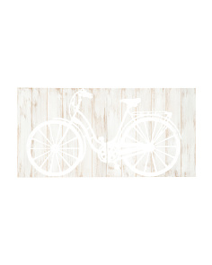 Galvanized Bicycle Wall Plaque