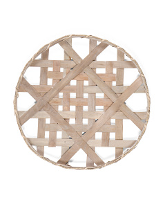 Circle Tobacco Basket Wall Decor
