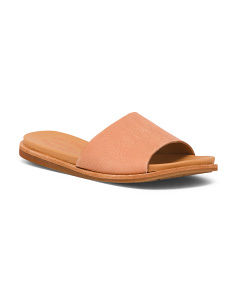 One Band Slide Leather Sandals