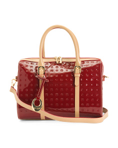 Made In Italy Patent Leather Speedy With Two Belted Handles
