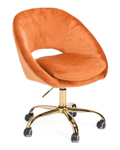 Noura Velvet Office Chair