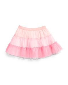 Little Girls Tiered Mesh Skirt