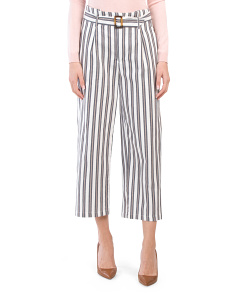 Juniors Striped Belted Trousers