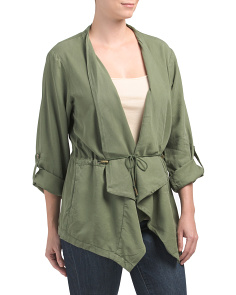 Drawcord Trench Jacket