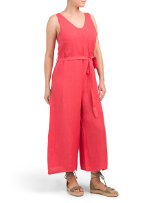Made In Italy Linen Wide Leg Gauchos