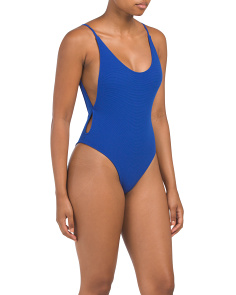 Australian Designed Ribbed One-piece Swimsuit