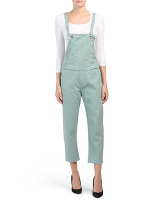 Juniors Denim Utility Long Overalls