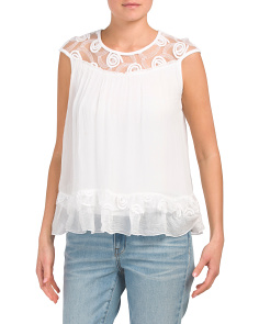 Made In Italy Illusion Lace Top