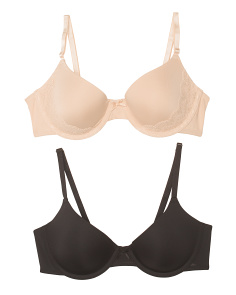 2pk Demi Coverage Lace Bras