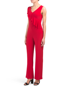 Made In Usa Ruffle Detail Jumpsuit