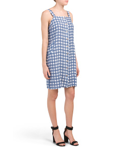 Made In Italy Linen Gingham Dress