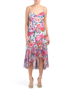 Hi-lo Floral Slip Dress
